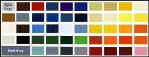 Fibre Glass Colour Chart