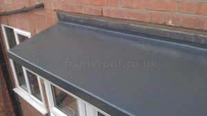 Fibrgeglass porch roof
