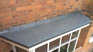 Fibreglass bay roof