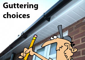 Gutters replacement choices