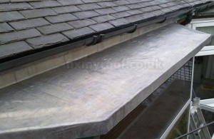 Lead roof repair