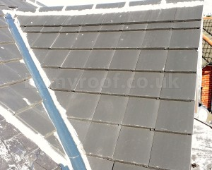 Badly tied roof wrong roof tile spacing