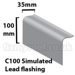 C100 simulated lead flashing fibreglass trim sizes size dimensions roofing