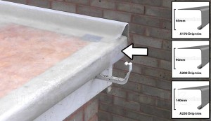 Drip trim size options in grp fiberglass