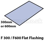 F300 F600 fibreglass flat flashing sizes size dimensions