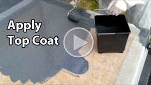 Fibreglass colour coat
