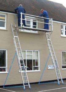 Ladder staging system