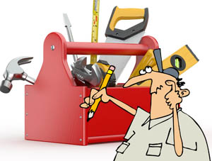 Roofing tools man
