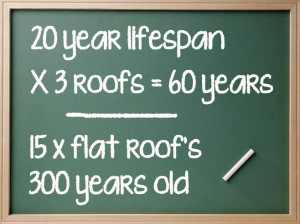 flat roof life Blackboard