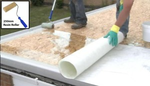 wetting out fibreglass matting