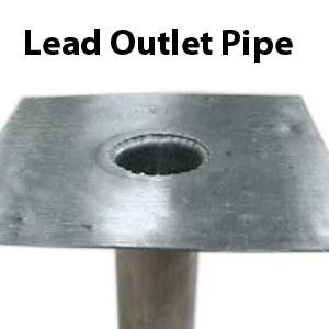 Lead outlet pipe