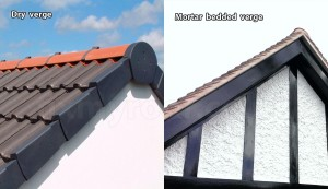 Cement mortar verge and dry verge gable end