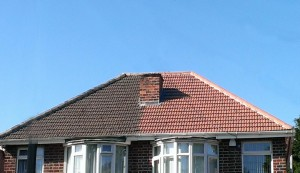 Old roof blended into new roof