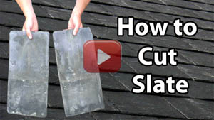 How to cut slate roof repair yt