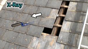 Slate roof repair slate ripper