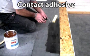 Contact adhesive epdm