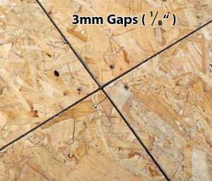OSB3 gaps 3mm