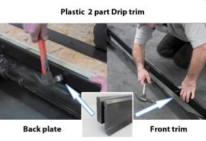 Plastic drip trim epdm