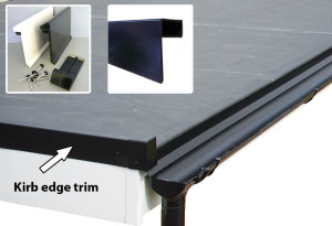 Plastic kerb edge trims