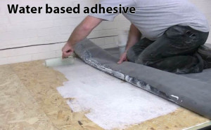 Water based adhesive