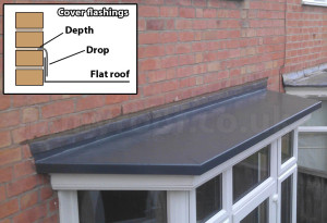 Flat roof cover flashings