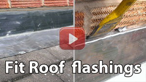 How to fit roof flashing