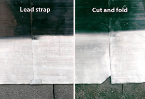 Lead flashing fold
