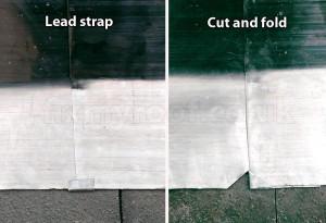 Lead flashing fold
