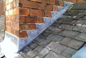 Old chimney step flashings