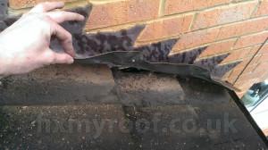 Leaking roof flashings