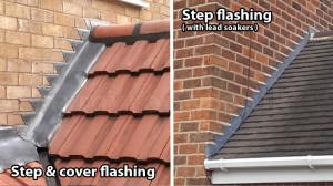 Step flashing roof