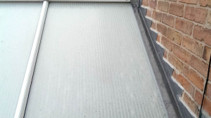 Step flashings to conservatory