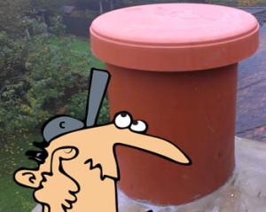 Chimney cap man