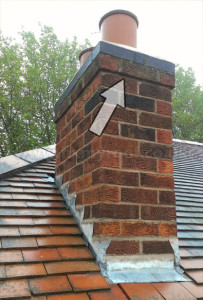 Chimney corbelling brick work