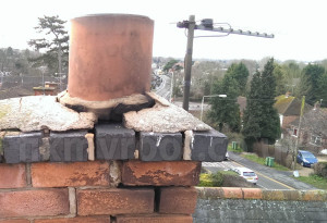 Chimney flaunching benching