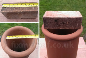 Chimney pot internal size
