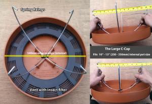 Large c cap size dimensions