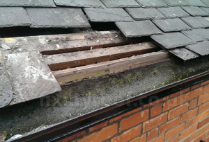 Old wooden fascias