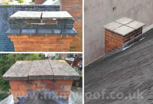 Slabs on a chimney