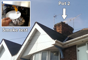 Smoke test cowl