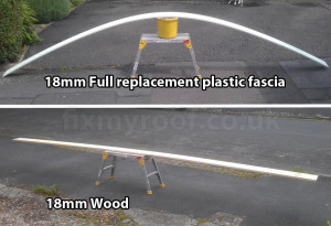 Plastic fascia strength v wood