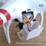 DJI Phantom battery door upgrade