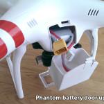 DJI Phantom battery door upgrade