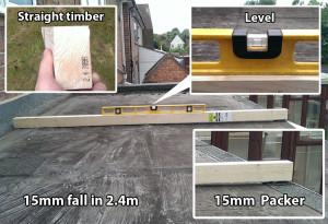 Level flat roof