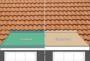 join a flat roof