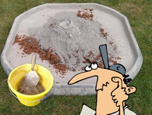 How to mix cement mortar