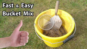 Mix mortar in a bucket