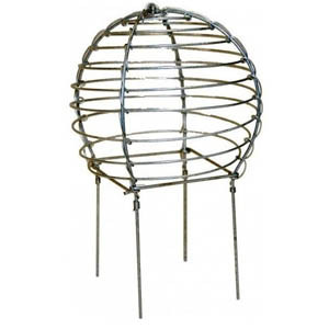 Wire balloon bird cage chimney