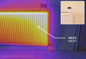 Thermal image of radiator