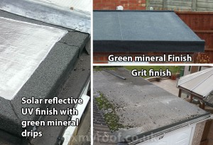 Felt roof repair types